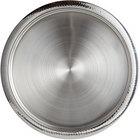 World Tableware BT-6127 Sonoran 15 3/4 inch Round Hammered Rim Stainless Steel Serving Tray