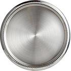World Tableware BT-6125 Sonoran 13 3/4 inch Round Hammered Rim Stainless Steel Serving Tray