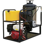 Cam Spray MCB2030B Skid Mount Gas Hot Water Pressure Washer with 50' Hose - 2000 PSI; 3.0 GPM