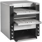 Vollrath CT4-208DUAL JT4 Dual Conveyor Toaster with 1 1/2 inch-3 inch and 1 1/2 inch Openings - 208V, 4900W