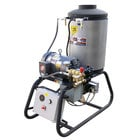 Cam Spray 4040STNEF Stationary Natural Gas Fired Electric Hot Water Pressure Washer with 50' Hose - 4000 PSI, 4.0 GPM
