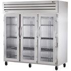 True STG3R-3G Specification Series Three Section Glass Door Reach In Refrigerator