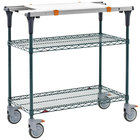 Metro MS1848-NKNK-PK1 PrepMate MultiStation with Cutting Board and MetroSeal 3 Wire Shelving - 50 inch x 19 3/8 inch x 39 1/8 inch