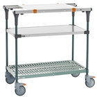 Metro MS1836-FSPR-PK1 PrepMate MultiStation with Cutting Board and Stainless Steel and SuperErecta Pro Shelving - 38 inch x 19 3/8 inch x 39 1/8 inch
