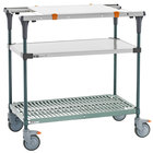 Metro MS1848-FSPR-PK1 PrepMate MultiStation with Cutting Board and Stainless Steel and SuperErecta Pro Shelving - 50 inch x 19 3/8 inch x 39 1/8 inch