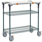 Metro MS1830-NKNK-PK1 PrepMate MultiStation with Cutting Board and MetroSeal 3 Wire Shelving - 32 inch x 19 3/8 inch x 39 1/8 inch