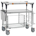 Metro MS1836-FGBR-PK2 PrepMate MultiStation with Accessory Pack and Galvanized and Brite Zinc Wire Shelving - 38 inch x 19 3/8 inch x 39 1/8 inch
