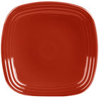 Homer Laughlin 920326 Fiesta Scarlet 9 1/4 inch Square China Luncheon Plate - 12/Case