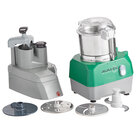 Avamix Revolution CFBB342D Combination Commercial Food Processor with 3 Qt. Stainless Steel Bowl and Continuous Feed Attachment - 120V, 1 hp