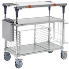 Metro MS1830-FGFG-PK2 PrepMate MultiStation with Accessory Pack and Galvanized Shelving - 32 inch x 19 3/8 inch x 39 1/8 inch
