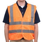 Orange Class 2 High Visibility 5 Point Breakaway Safety Vest - XXXL