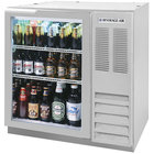 Beverage-Air BB36HC-1-FG-S 36 inch Stainless Steel Food Rated Glass Door Back Bar Refrigerator