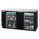 Beverage-Air BB68HC-1-FG-B 69 inch Black Food Rated Glass Door Back Bar Refrigerator