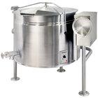 Cleveland KEL-60-TSH Short Series 60 Gallon Tilting Full Steam Jacketed Electric Kettle - 208/240V