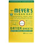 Mrs. Meyer's Clean Day 675597 80-Count Honeysuckle Dryer Sheets - 12/Case