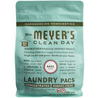Mrs. Meyer's Clean Day 306115 Basil 45-Count Laundry Detergent Pack - 6/Case