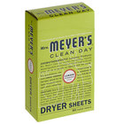 Mrs. Meyer's Clean Day 651355 80-Count Lemon Verbena Dryer Sheets   - 12/Case