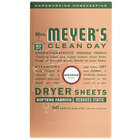 Mrs. Meyer's Clean Day 651362 80-Count Geranium Dryer Sheets - 12/Case