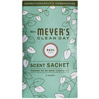 Mrs. Meyer's Clean Day 308116 Basil Deodorizing Scent Sachet - 18/Case