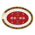 Longevity 9 inch x 6 3/4 inch Oval Melamine Deep Platter - 12/Pack