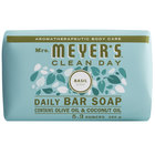 Mrs. Meyer's Clean Day 663376 5.3 oz. Basil Soap Bar - 12/Case