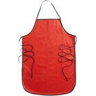 "San Jamar EZKAPR Red 20 Mil EZ-Kleen Cleaning / Dishwashing Apron - 36""L x 25 1/2""W"
