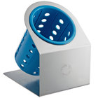 Steril-Sil Cantilever 1-Cylinder Stainless Steel Flatware Organizer with Blue Perforated Plastic Cylinder