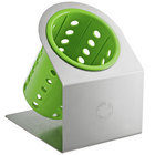 Steril-Sil Cantilever 1-Cylinder Stainless Steel Flatware Organizer with Lime Perforated Plastic Cylinder