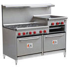 Cooking Performance Group 60-CPGV-6B-24RG-S26 6 Burner 60