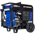 DuroMax XP15000EH Portable 713cc Dual Fuel Powered Generator with Twin Engine, Electric / Recoil Start, and Wheel Kit - 15,000/12,000W, 120V