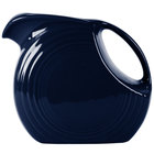 Homer Laughlin 484105 Fiesta Cobalt Blue 2.1 Qt. Large Disc China Pitcher - 2/Case