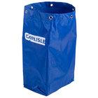Carlisle JC194614 25 Gallon Blue Nylon Janitorial Bag for JC1945S23 and JC1945L23 Carts