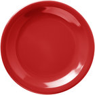 Carlisle 4385605 Red Dayton 5 5/8 inch Melamine Bread & Butter Plate - 48/Case