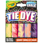 "Crayola 35800 4"" 5 Assorted Color Tie Dye Washable Sidewalk Chalk"