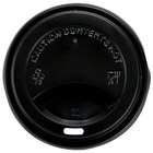 Choice 8 oz. Black Hot Paper Cup Travel Lid - 1000/Case