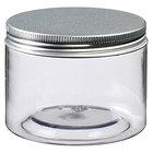 Solia BU14005 Tornillo 9.3 oz. Clear Plastic Jar with Aluminum Lid - 192/Case