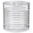 Solia PS34520 7.4 oz. Clear Plastic Tin Can with Lid - 100/Case