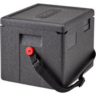 Cambro EPP280WSTSW110 Cam GoBox® Half Size 8 inch Deep Top Loader Insulated Food Pan Carrier with Strap - 15 1/2 inch x 13 inch x 12 inch