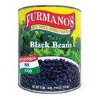 Furmano's #10 Can Fancy Black Beans in Brine - 6/Case