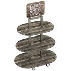Lakeside 155044 Isle 'N Go Wood Merchandising Cart