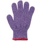San Jamar SG10-PR-S Purple A7 Level Cut Resistant Glove with Dyneema - Small