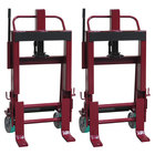 """Wesco Industrial Products 260139 Rais-N-Rol 23"""" x 18 3/4"""" x 43 5/8"""" Machinery Mover with 6"""" Polyurethane Casters - 6,000 lb. Capacity"""