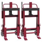 """Wesco Industrial Products 260088 Rais-N-Rol 23"""" x 18 3/4"""" x 41 3/8"""" Machinery Mover with 6"""" Steel Casters - 6,000 lb. Capacity"""