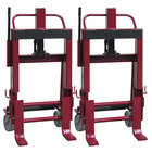 """Wesco Industrial Products 260138 Rais-N-Rol 23"""" x 18 3/4"""" x 43 5/8"""" Machinery Mover with 6"""" Steel Casters - 6,000 lb. Capacity"""