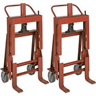 Wesco Industrial Products 260087 Rais-N-Rol 23 inch x 19 3/4 inch x 43 5/8 inch Machinery Mover with 6 inch Steel Casters - 4000 lb. Capacity