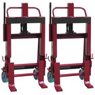 """Wesco Industrial Products 260092 Rais-N-Rol 23"""" x 19 3/4"""" x 43 5/8"""" Machinery Mover with 6"""" Polyurethane Casters - 4,000 lb. Capacity"""