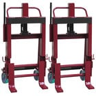 Wesco Industrial Products 260092 Rais-N-Rol 23 inch x 19 3/4 inch x 43 5/8 inch Machinery Mover with 6 inch Polyurethane Casters - 4,000 lb. Capacity