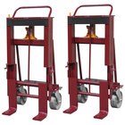 """Wesco Industrial Products 260090 Rais-N-Rol 24"""" x 21 3/4"""" x 47 5/8"""" Machinery Mover with 8"""" Steel Casters - 10,000 lb. Capacity"""