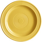 Acopa Capri 7 inch Citrus Yellow China Plate - 24/Case