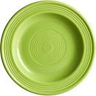 Acopa Capri 6 1/8 inch Bamboo Green China Plate - 24/Case